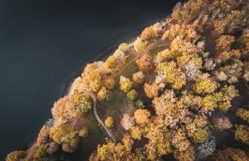 Le lac St Pardoux en drone