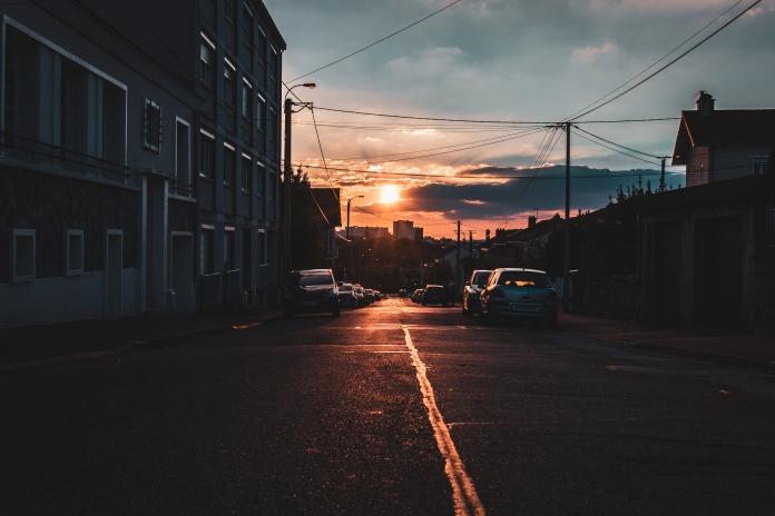 Coucher de soleil sur Limoges
